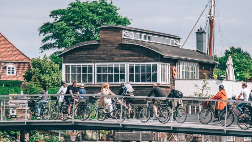 Cyklister i Christianshavn, Köpenhamn