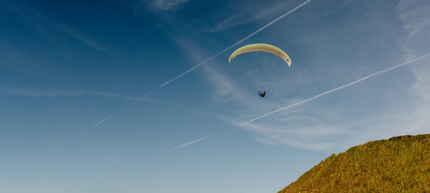 Paragliding by the West Coast