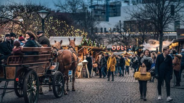 Christmas market in Odense