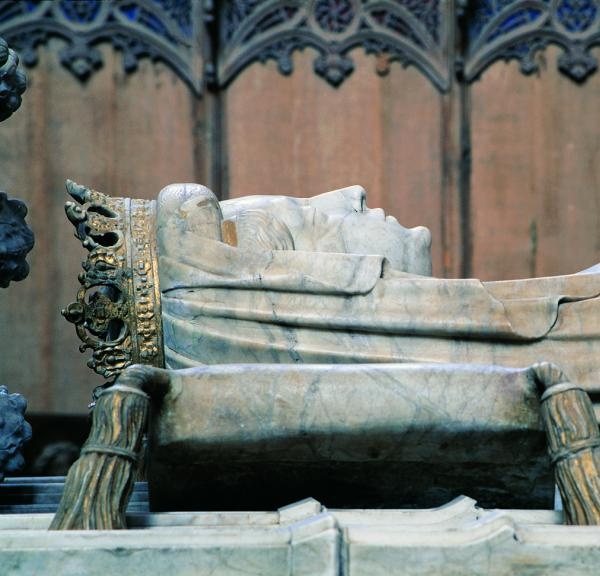 The tomb of Queen Margrethe I of Denmark in the UNESCO world heritage site, Roskilde Cathedral.