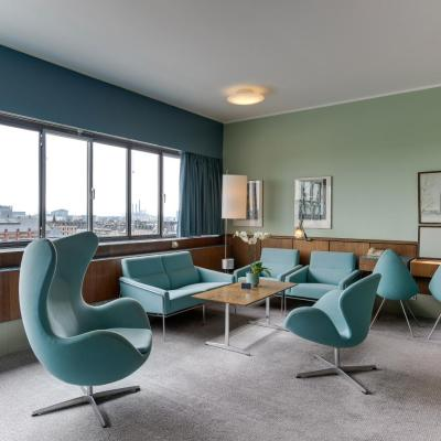 Arne Jacobsens ikoniska suite på Radisson Collection Royal Hotel i Köpenhamn